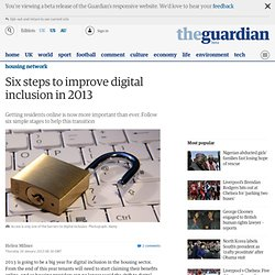 Six steps to improve digital inclusion in 2013