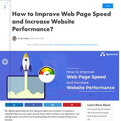 How to Improve Web Page Speed and Increase Website Performance?