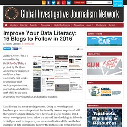 Improve Your Data Literacy: 16 Blogs to Follow in 2016