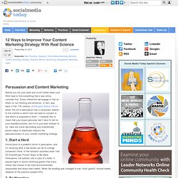 12 Ways to Improve Your Content Marketing Strategy With Real Science