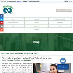 Tips to Improve Your Medical Front Office Operations