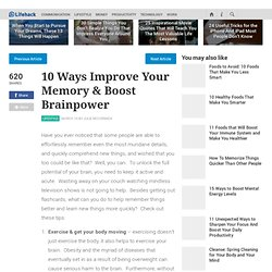 10 Ways Improve Your Memory & Boost Brainpower