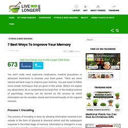 7 Best Ways To Improve Your Memory