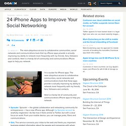 24 iPhone Apps to Improve Your Social Networking