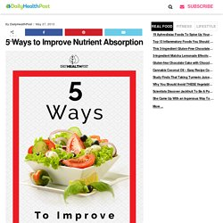 5 Ways to Improve Nutrient Absorption