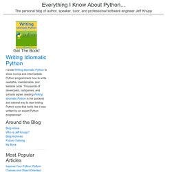 Improve Your Python: Python Classes and Object Oriented Programming