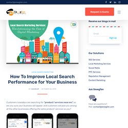 How To Improve Local Search Performance for Your Business