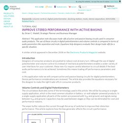 Improve Stereo Performance with Active Biasing