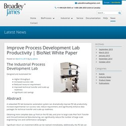 Improve PD Lab Productivity