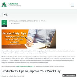 Improve Productivity at Work
