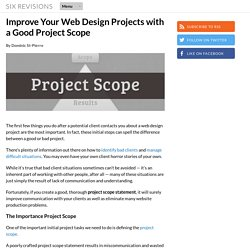 Improve Your Web Design Projects with a Good Project Scope