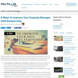 8 Ways to Improve Your Property Manager HOA Relationship