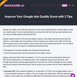Improve Your Google Ads Quality Score with 3 Tips