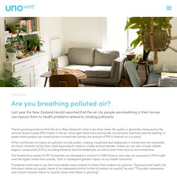 Are you breathing polluted air?