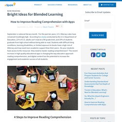 How to Improve Reading Comprehension with Apps