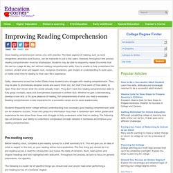 Study Skills Guide: Improve Reading Comprehension Skills