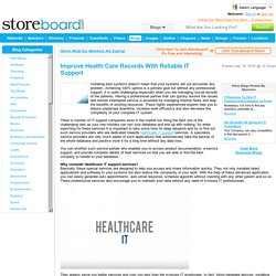 Improve Health Care Records With Reliable IT Support