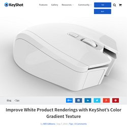 Improve White Product Renderings with KeyShot's Color Gradient Texture