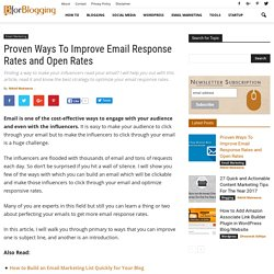 Tips to Improve Email Response Rates to Engross Influencers