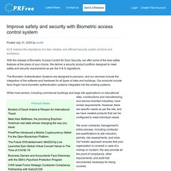 Improve safety and security with Biometric access control system