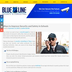 Ways to Improve Security and Safety in Schools