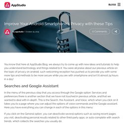 Improve Your Android Smartphone's Privacy with these Tips - Appstudio