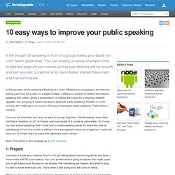 10 easy ways to improve your public speaking