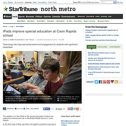 iPads improve special education at Coon Rapids school