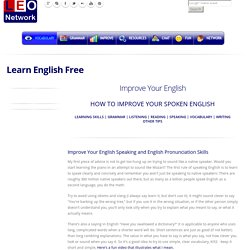 How to improve your spoken English - Learn English free
