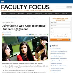 Using Google Web Apps to Improve Student Engagement
