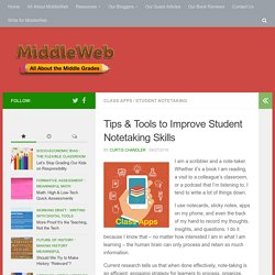 Tips & Tools to Improve Student Notetaking Skills