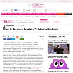 Want to Improve Teaching? Listen to Students