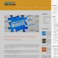Improve Traffic to Your Site through Best SEO Company