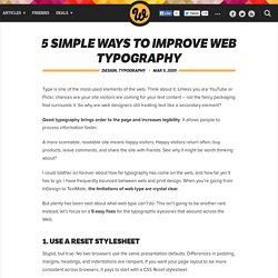 5 Simple Ways to Improve Web Typography