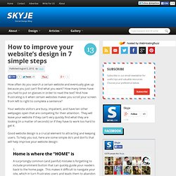 How to improve your website's design in 7 simple steps