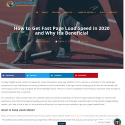 How to Get Fast Page Load Speed in 2020 and Why it's Beneficial- NetTonic
