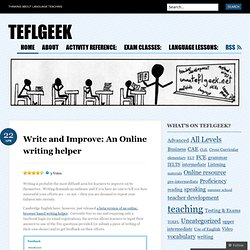 Write and Improve: An Online writing helper