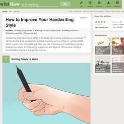 How to Improve Your Handwriting Style: 4 Steps
