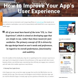 How to Improve Your App's User Experience