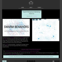 Swarm Behaviours Workshop Material – @improved