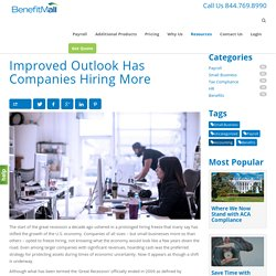 Improved Outlook Has Companies Hiring More