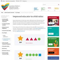 Improved educator to child ratios