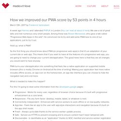 How we improved our PWA score by 53 points in 4 hours - madewithlove