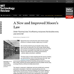 A New and Improved Moore's Law