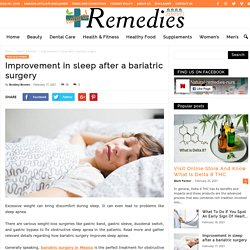 Improvement in sleep after a bariatric surgery