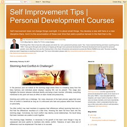 Personal Development Courses: Storming And Conflict-A Challenge?