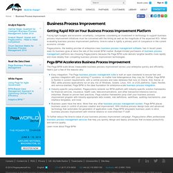 Business Process Improvement Platform