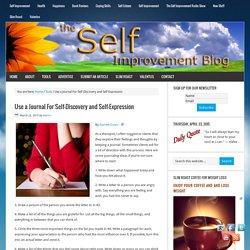 Use a Journal For Self-Discovery and Self-Expression