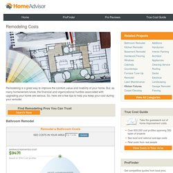 Remodeling Costs - Home Improvement Tips & Advice from HomeAdvisor