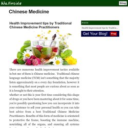 Get Help By Traditional Chinese Medicine Practitioners